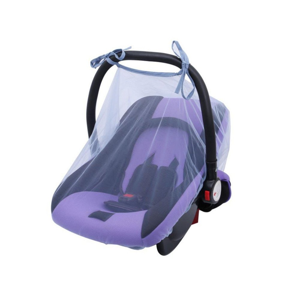 Simayixx Baby Crib Seat Mosquito Net Newborn Curtain Car Seat Insect Netting Canopy Cover (One Size, Blue)