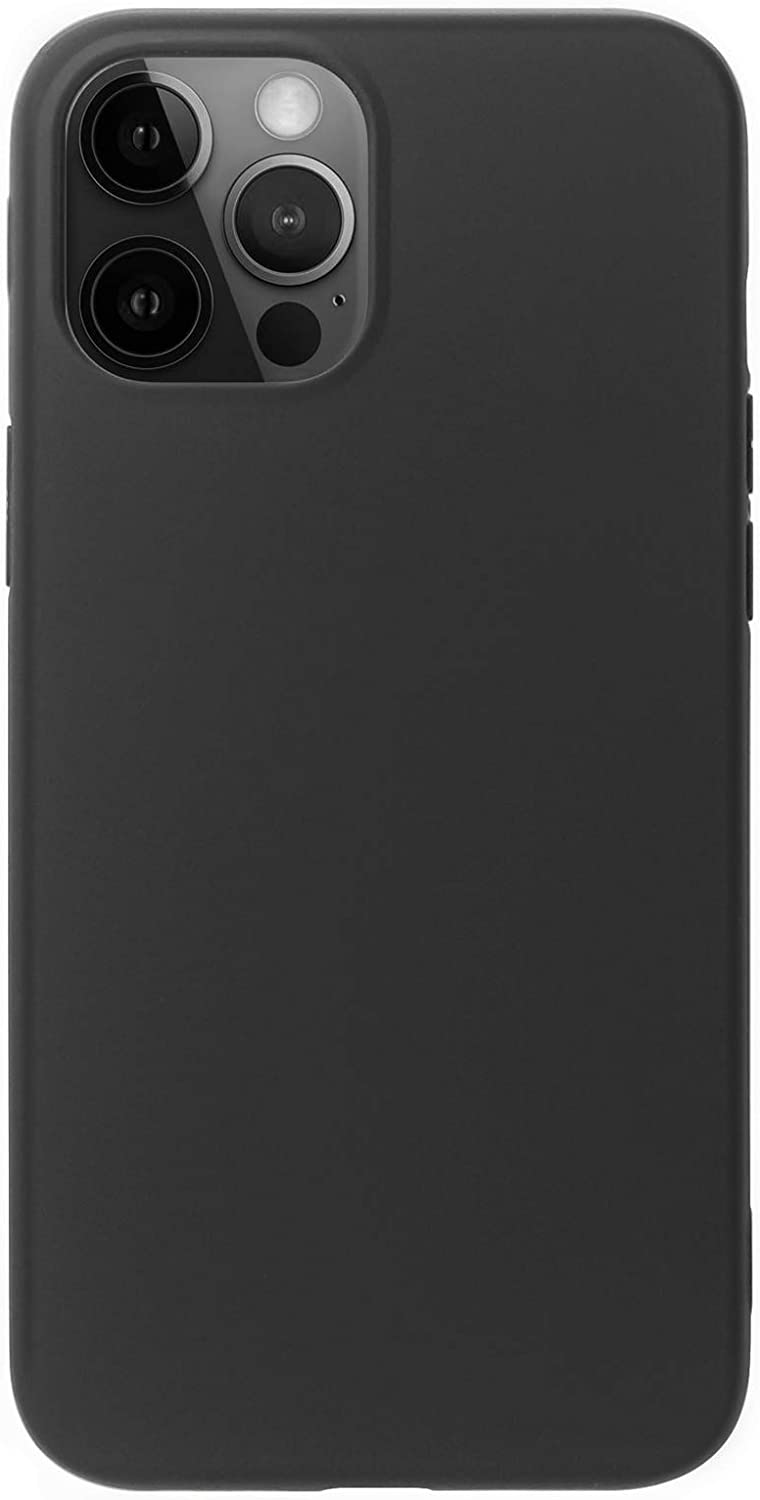 MUNDULEA Compatible with iPhone 12 Mini Case Black Slim Surface Layer Smooth Matte Soft Flexible TPU Cover Compatible for iPhone 12 Mini 5.4 inch (Black)