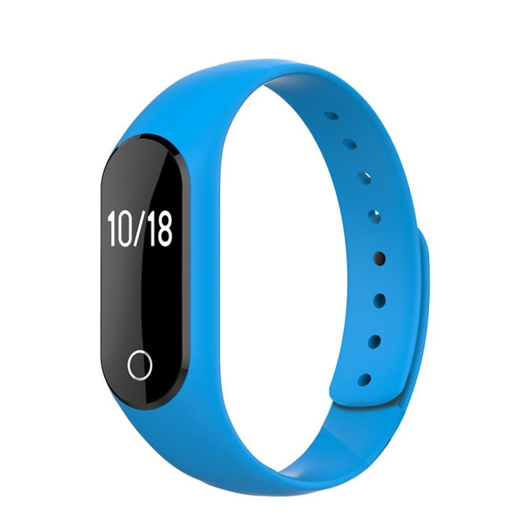 QINLa nueva pantalla táctil pulsera inteligente ritmo cardíaco dinámico de seguimiento de la caloría rodante deportivo brazalete