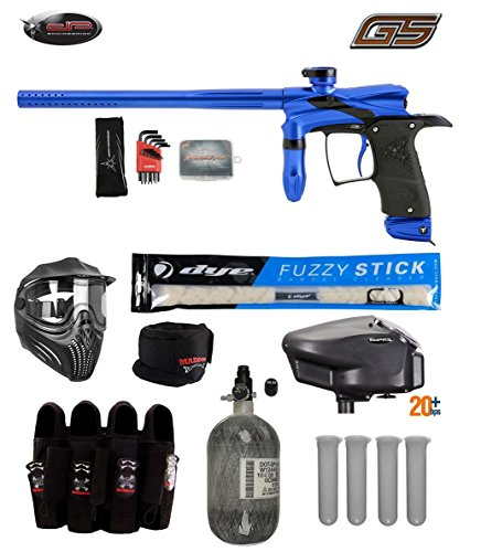 MAddog Dangerous Power G5 Tournament Elite Paintball Gun Package A - Blue/Black