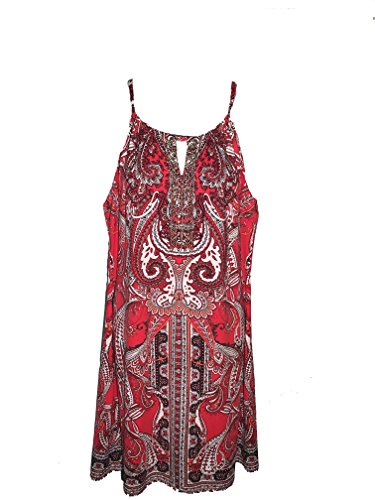 INC International Concepts Womens Embellished Keyhole She Love Paisley