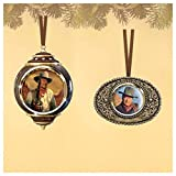 The Bradford Exchange The Powerful John Wayne Legend Ornaments Collection Set 2 For Sale