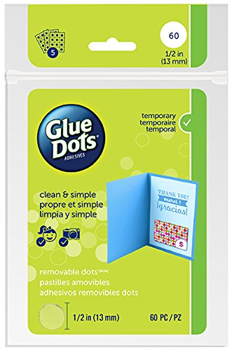 - Glue Dots Gdof222Rem Sheet 60Ct Removable Acid Free, 1/2