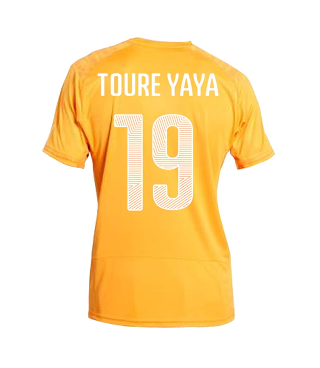 Puma Toure Yaya # 19 Ivory Coast Home jersey World Cup 2014 B00KQ3NXPU3L