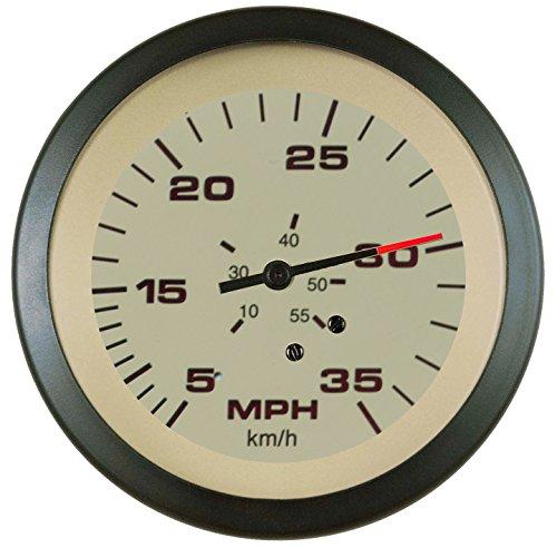 Sierra International 61826Ph Sahara Pitot Type 5 to 35 Mph Dial Range Scratch Resistant Speedometer Head, 3
