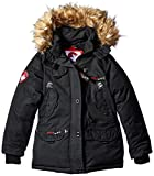 canada coat - Canada Weather Gear Big Girls' Outerwear Jacket (More Styles Available), Black a, 10/12