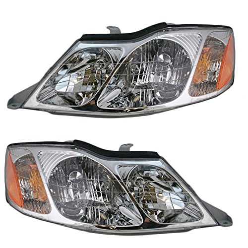 Toyota Avalon Set - Headlights Headlamps Left & Right Pair Set for 00-04 Toyota Avalon