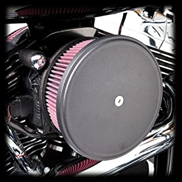 Arlen Ness Black Stage 2 Big Sucker Air Cleaner Red Filter Kit Harley Twin Cam