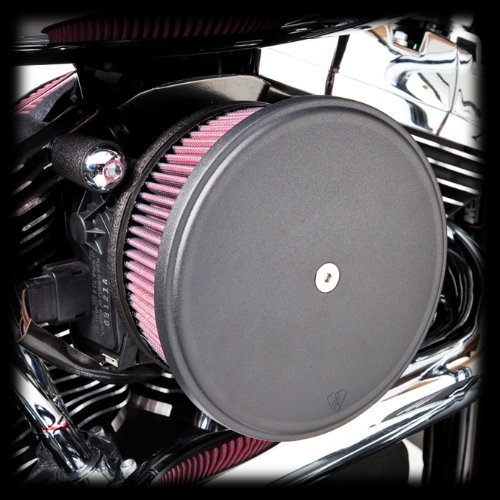 Arlen Ness Big Sucker 18-820 Stage 2 Red Filter Black Cover for 1999-2015 Harley Twin Cam ()