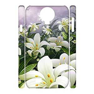 Cheap 3D Hard Protective Plastic Case for SamSung Galaxy S4 I9500 - Lily CM09L2876