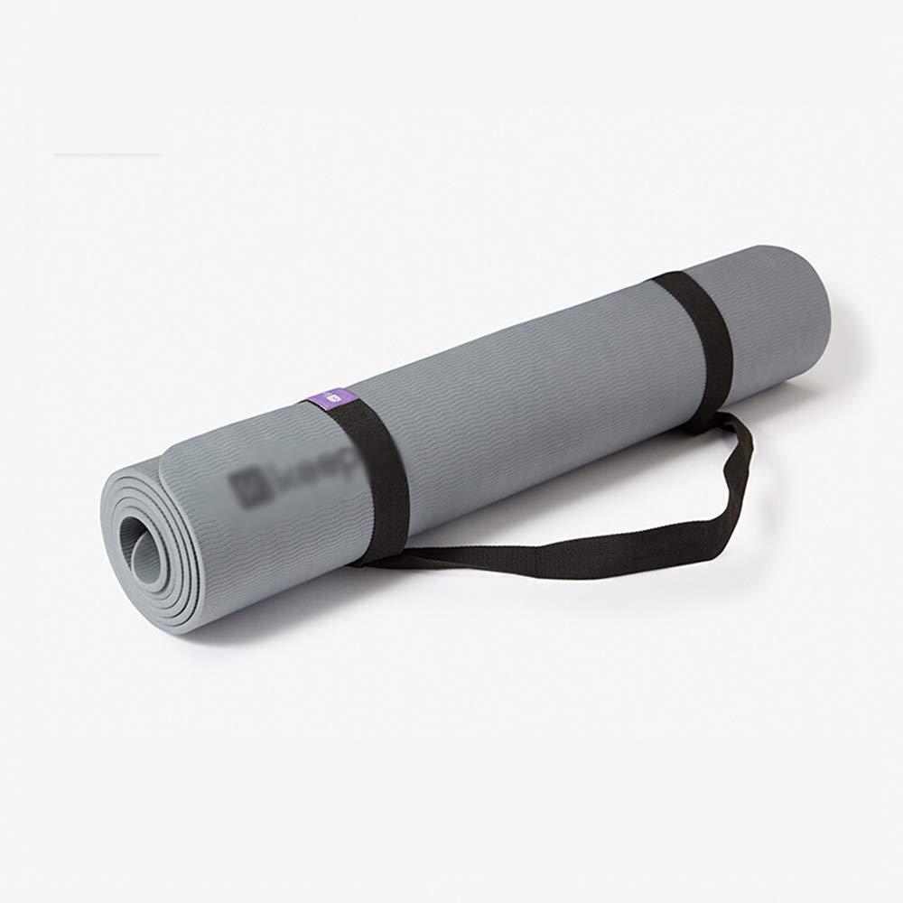Amplio Gimnasio Mat Estera de Yoga Femenino resbaladizo Estable 183 * 80 * 0.7cm (Color : Gray) FIOFE
