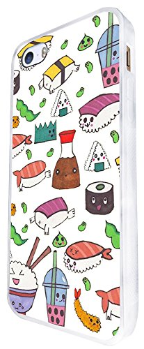 949 - Cool Cute Fun Food Sushi Rolls Food Lovers Japanese Maki California Roll Illustration Art Doodle Kawaii Design iphone SE - 2016 Coque Fashion Trend Case Coque Protection Cover plastique et métal