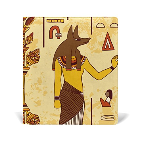 Black Licorice Vanity (Egyptian Decor Book Covers, Fits Most Hardcover Textbooks up to 9 x 11 Inch, PU Leather School Book Protector, Easy to Put On Jacket.)
