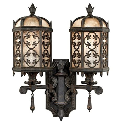 fine art lamps costa del sol 329581st two light outdoor wall light