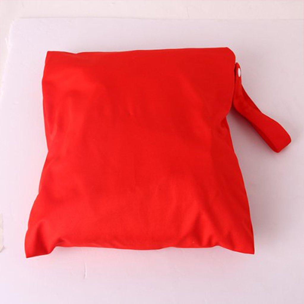 Little Sporter Baby Windeltasche Wasserdichte Wickeltasche Wiederverwendbare Tuch Baby Windel Beutel Druckknopf Tote Eulen Muster Rot