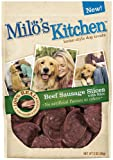 Milo's Kitchen Dog Treats, Beef Sausage Slices with Rice, 3-Ounce (Pack of 4), My Pet Supplies