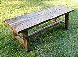 Reclaimed Trestle Bench