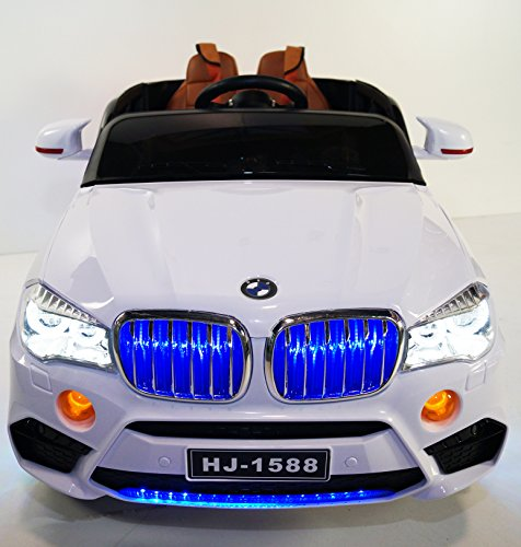 New BMW X5 White Ride-on Car for children 12V battery ope...