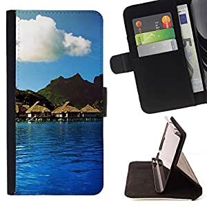 For HTC DESIRE 816 Case , Naturaleza Hermosa Forrest Verde 114- la tarjeta de Crédito Slots PU Funda de cuero Monedero caso cubierta de piel