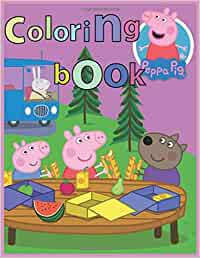 Peppa Pig Coloring Book: Coloring book Help children stimulate imagination, creativity with colors (for children aged 2-6 years) , Vol 24