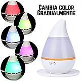 Wivarra 250ml Humidificador Aromaterapia,Humidificador Ultrasonico,Siete Transformaciones de Color y sin Ruido, Adecuado para el Hogar y la Oficina y el Automóvil