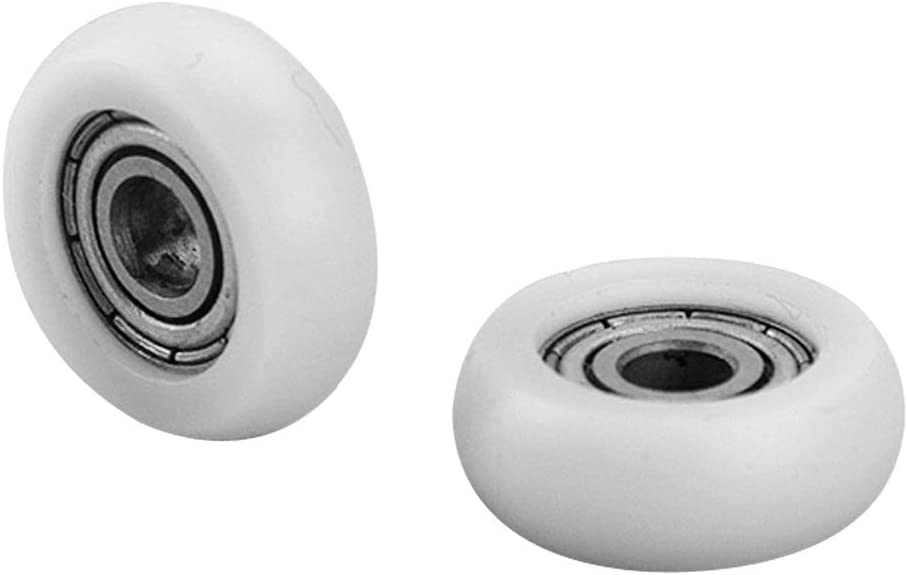 8 pcs/lot 4 * 16 * 6 en nylon Roulement mm Porte de douche en nylon Roulement à rouleaux Poulie: Amazon.es: Bricolaje y herramientas