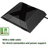 xbox one fan - XFUNY(TM) Professional USB Powered 35℃ Auto-sensing Cooling Fan External Cooler Fan for Microsoft Xbox One Console, Black