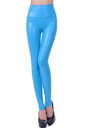 9f9da179c3f18 Lotsyle Women's High Waist Faux Leather Leggings at Amazon Women's Clothing  store: