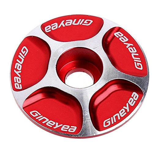 - Aluminum Bicycle MTB Road Mountain Bike Stem Accessories Headset Cap for MTB Road Bike Bicycle Red