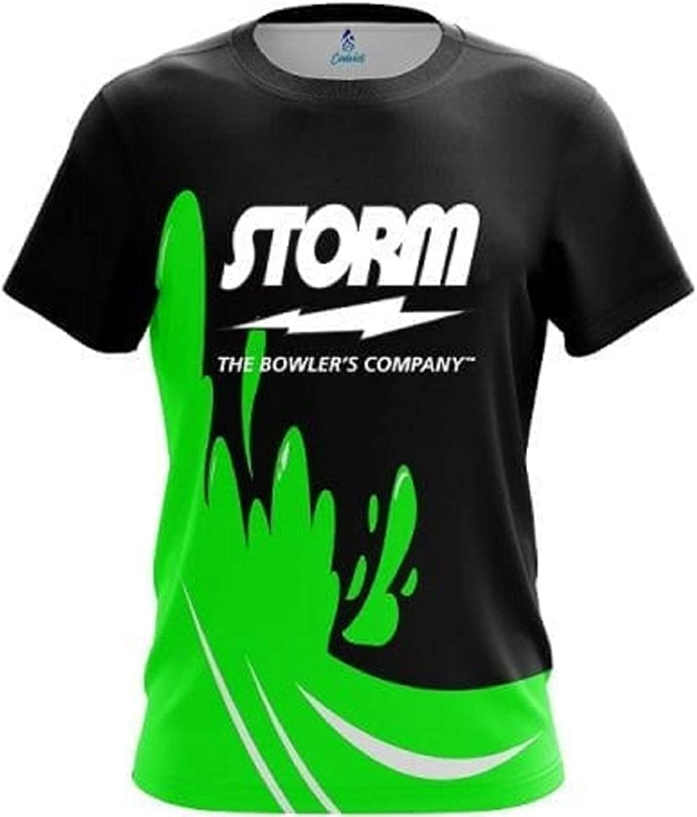 CoolWick Storm Green Splash Bowling Jersey