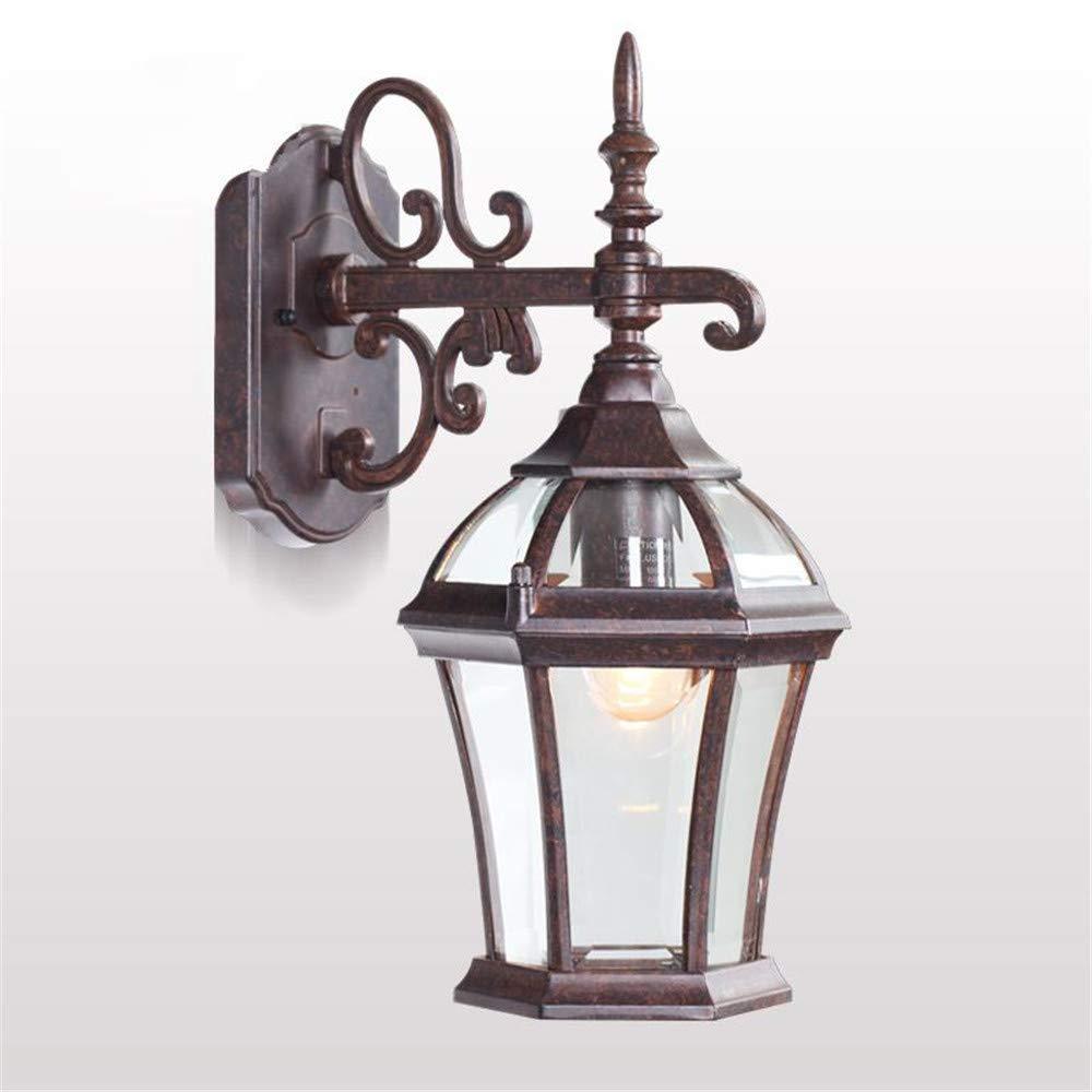Ehime Außenwandleuchten Anti-Rost- und Antikorrosionsantiken-Wandlampenlampe pastorale Gangwandlampe Größe Wandluxuslandhauslampengarten-Lampenhintergrund-Wandlampe