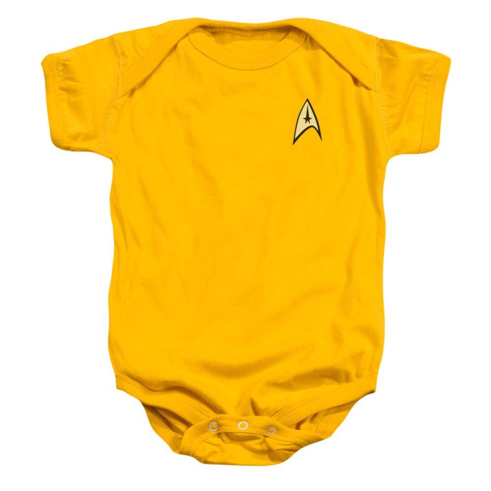 Star Trek TV Series Captain Kirk Command Uniform Baby Infant Romper Snapsuit