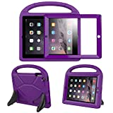 BFTOP Compatible Kids Case for iPad 2 3 4 with Built-in Screen Protector, Lightweight Shockproof Cover Case with Handle & Stand for iPad 2, iPad 3rd Generation, iPad 4th Generation Tablet - Purple
