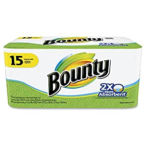 Bounty Paper Towels, White, 15-Count Package