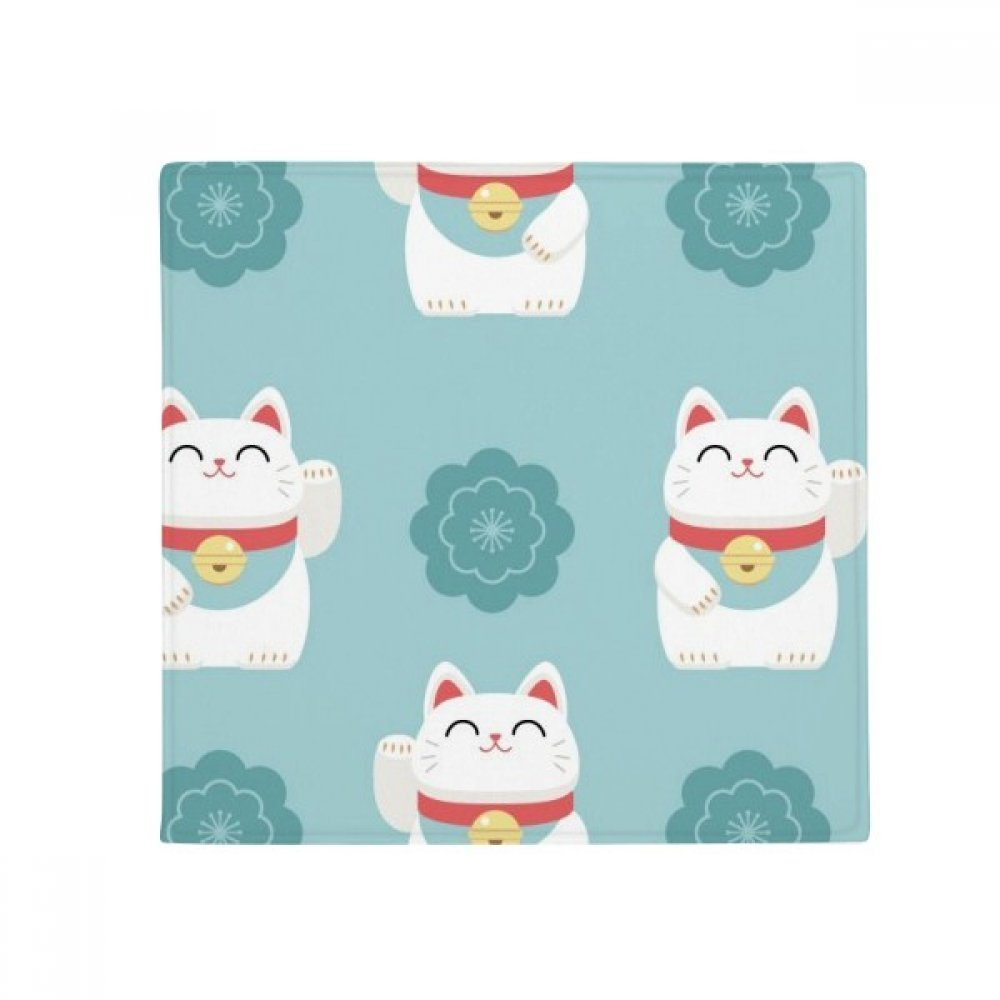 DIYthinker Lucky Cats Sakura Totem Japan Anti-Slip Floor Pet Mat Square Home Kitchen Door 80Cm Gift