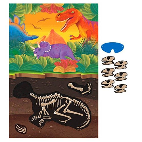 Amscan Prehistoric Dinosaurs Party Game, Party Favor -
