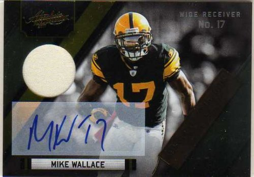 2011 Absolute Memorabilia Absolute Heroes Materials Autographs #12 Mike Wallace Autograph Jersey Card Serial #'d/10