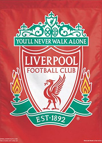 WinCraft Liverpool Football Club Est 1892 Vertical Flag, 28x40 inches, You'll Never Walk - Flag Liverpool