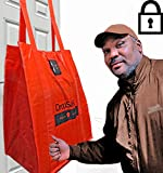 DROPSAK - First X Large Jumbo Hallways / Deck / Porch / School Dorm friendly Door mounted Mailbox / Drop box with Combination Lock. Great for large Parcel / Package or grocery deliveries outdoor.