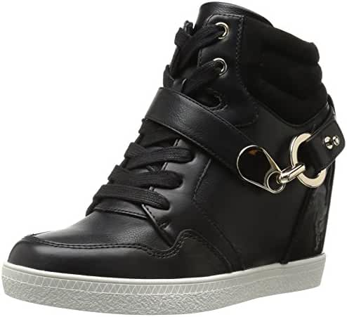 Aldo Women's Vollaro Fashion Sneaker, Black Synthetic, 8 B US