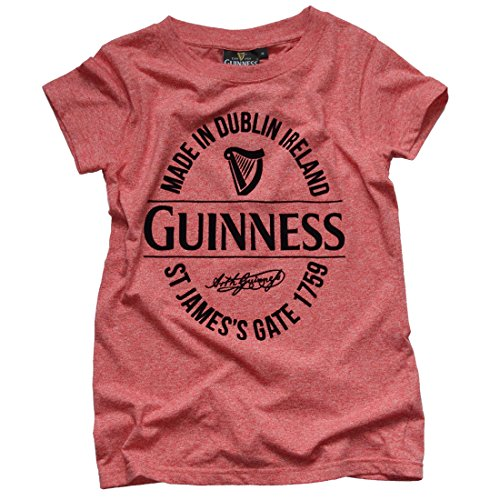 (Guinness Ladies Red Stamp T-Shirt (XLarge))