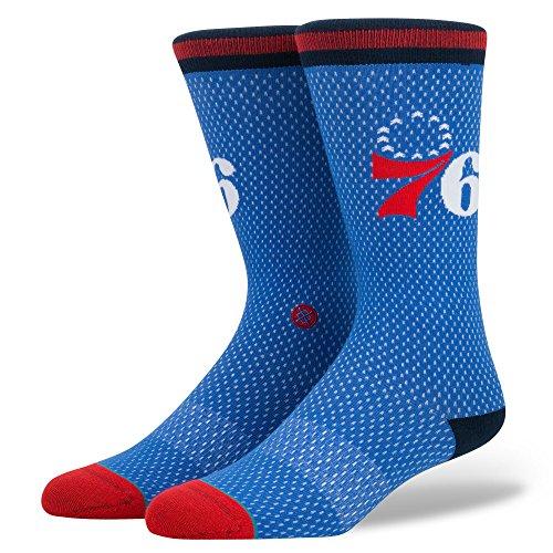 Stance Men's Sixers Jersey Socks Blue M