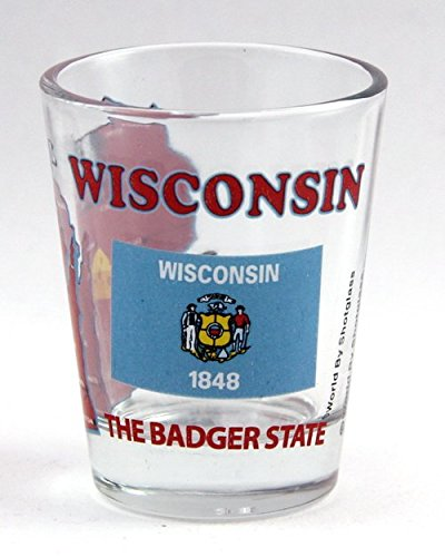 (Wisconsin The Badger State All-American Collection Shot Glass)