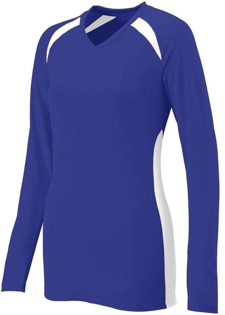 Augusta SportswearレディースSpike Jersey B00HJTNAJ8 Medium|パープル/ホワイト パープル/ホワイト Medium