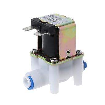 LAOSI - Válvula solenoide eléctrica de 12 V CC para purificador de ...