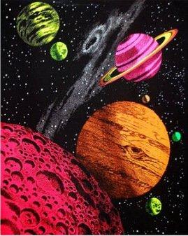 Da Bang Custom Opticz Galaxy Blacklight Reactive Tapestry Poster Decor Best Nice 51x77cm DGT-47801 -