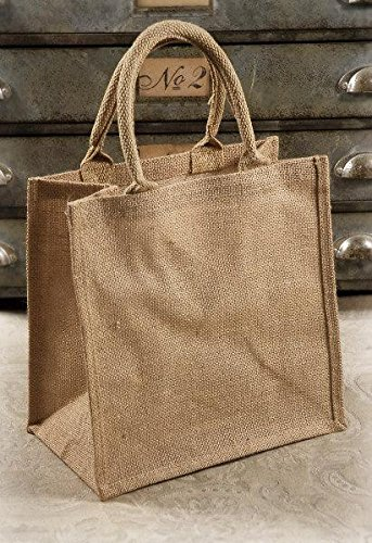 Richland Burlap Gift Tote Bags 12'' x 12'' Set of 36 by Richland