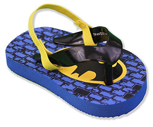 DC Comics Batman Baby Boys Toddler Flip Flop Sandals,Blue/Black,4 M US Toddler