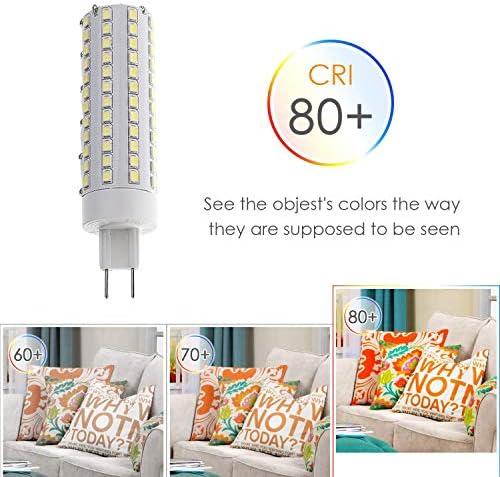 Funey 6er Pack G8.5 LED Mais Lampe, 10W Licht Lampen, AC 85-265V, Bi-Pin, Neutralweiß 4000K, 108 * 2835 SMD Energiespar Leuchtmittel Birnen, Nicht Dimmbar, für Garten Garage Lagerhaus Fabrik Hof