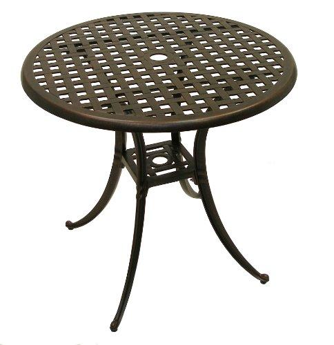 ATC Design Antique Bronze Solid Cast Aluminum Table, 30